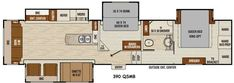 2 bedroom 2 bath 5th wheels and travel trailers rv Rear bedroom travel trailer floor plans