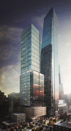 50 Hudson Yards at 1,068 feet tall (in front of the still taller 30 Hudson).