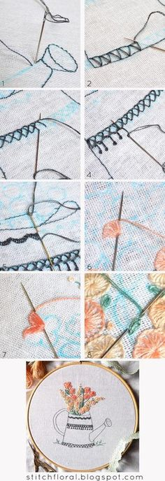 Buttonhole stitch practice: free PDF pattern #hand_embroidery, #hand_embroidery_tutorial, #hand_embroidery_free_pattern, #buttonhole_stitch