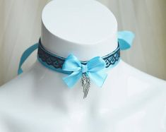 Kitten play day collar  Blue angel  two toned ddlg cgl
