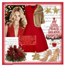 """Christmas party...."" by nihal-imsk-cam ❤ liked on Polyvore featuring Anja, Giambattista Valli, Balmain, Christian Louboutin, Roberto Cavalli, Alison Lou and Tiffany & Co."
