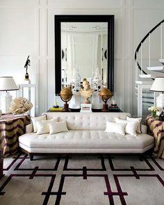 Tips Mendapatkan Tampilan Desain Interior Modern Klasik Home Living Room, Living Room Decor, Living Spaces, Decoration Inspiration, Interior Design Inspiration, Design Ideas, Inspiration Wall, Piece A Vivre, Classic House