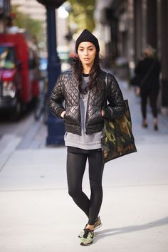 Adrianne Ho. Urban. City. Sports. Exercise. Slim. Fit. Outfit. Modern. Trend. Jacket. Autumn. Sneakers. Nike. Kicks. Camouflage. Black & Grey. Bag. Cap. Dark. Beauty. Model. Woman. Fashion. Clothing.