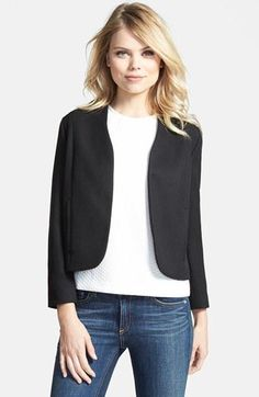 This is a great jacket to add to your professional wardrobe because it has a unique silhouette that will flatter any shape!
