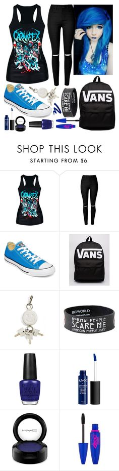 """Scene Hair #26"" by taylor-kennedy-i ❤ liked on Polyvore featuring Converse, Vans, Alexander Wang, OPI, MAC Cosmetics, Maybelline and Urban Decay"