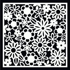 Large Flower Stencil Background | Free SVG & WPC Cut Files ...