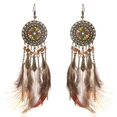 Our BOHO Mandala Feather Tassel Earrings are cute and stylish. Pair with any coordinating outfit. Tassel Drop Earrings, Fringe Earrings, Feather Earrings, Tassel Earrings, Dream Catcher Earrings, Feather Dream Catcher, Boho Jewelry, Fashion Jewelry, Style Fashion