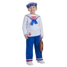 Dress Up America Boys' Sailor Boy Costume, Blue Sailor Costumes, Boy Costumes, Halloween Costumes, Children Costumes, Halloween Ideas, Costume Ideas, Patriotic Costumes, Sailor Outfits, Bow Shirts