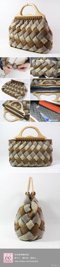 #Diy Entrelac bag #Knit