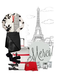"""""""Day 1: Paris"""" by polylana on Polyvore featuring Dot & Bo, Aéropostale, Manolo Blahnik, Dion Lee, Marc by Marc Jacobs, Givenchy, travel and paris"""