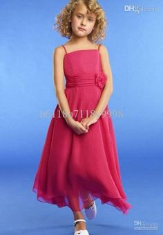 Wholesale 2013 Beautiful Cute Spaghetti Red Junior Bridesmaid Dresses Flower Girls' Dresses Gowns For Formal Occasion Custom Made Cheap Weding Dresses Best Wedding Dress From H6118q7118y9998, $92.15| Dhgate.Com