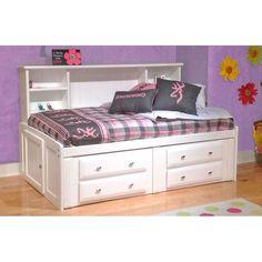 Laguna White Full Contemporary Roomsaver Storage Bed
