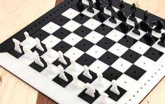 Laser cut chess pattern from Epilog.