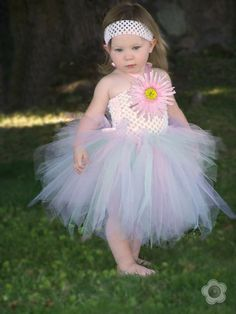Easter Baby TuTu Dress White Pink first birthday by leeleeandjj on Wanelo