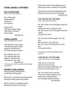 FARM SONGS - Preschool