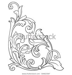 Find Vintage Baroque Corner Scroll Ornament Engraving stock images in HD and millions of other royalty-free stock photos, illustrations and vectors in the Shutterstock collection.  Thousands of new, high-quality pictures added every day.