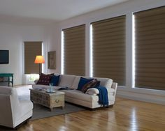 Romantic Vignette Shades for Classic House: Spacious Living Room Interior Design Ideas Applied In Vignette Modern Roman Shades Finished With. Contemporary Roller Blinds, Contemporary Windows, Spacious Living Room, Living Room Modern, Living Rooms, Living Spaces, Living Room Interior, Interior Design Living Room, Modern Roman Shades