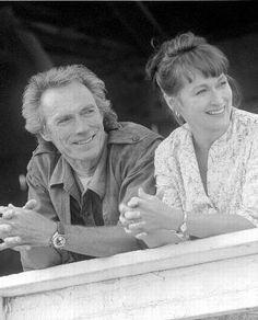 Clint and Meryl Streep This kind of certainty comes but only once in a lifetime ~ Quote from Bridges of Madison County