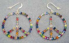 Sterling Silver  Peace Earrings #2717