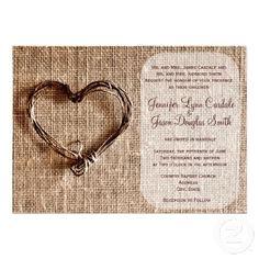 rustic country burlap twine scroll wedding invitations rustic vintage wedding invitations pinterest twine burlap and scroll wedding invitations