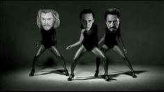 Funny GIF  Tom hiddleston, Chris Hemsworth, Robert Downey Jr. -Single Ladies HAHAHAHAHAHAHAHA!!!!