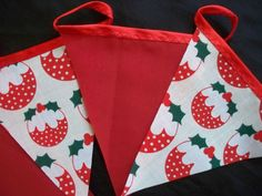 5mts christmas pudding and red christmas bunting christmas party bunting code st