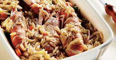 Καραβίδες με κριθαράκι και ταχίνι από την Αργυρώ Μπαρμπαρίγου | Σε αυτήν τη συνταγή µε σως από ταχίνι, η νοστιμιά δεν περιγράφεται! Νηστίσιμο και ελαφρύ! Greek Pasta, Food Categories, Orzo, Greek Recipes, I Love Food, Seafood Recipes, Pasta Salad, Yummy Food, Yummy Yummy