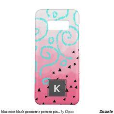 blue mint black geometric pattern pink brushstroke Case-Mate samsung galaxy s8 case
