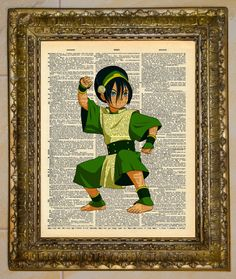 Avatar The Last Airbender Dictionary Art Toph by atthedrivein,