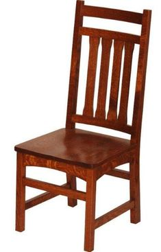 Amish Santa Cruz Mission Dining Chair Select a new mission style for dining room or kitchen. The Santa Cruz puts a twist on mission style. Enjoy solid wood seats you can count on for decades.