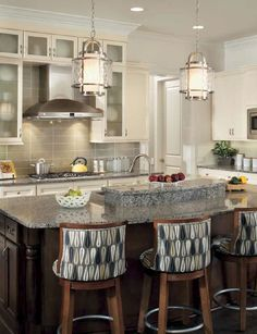 Transitional Kitchen Island Lighting More Contemporary Kitchens Trav