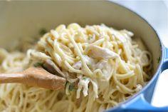 Chicken Spaghetti with white chedder sauce...