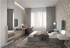 Table chevet suspension - lit double - chambre à coucher - Deco du monde