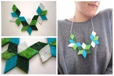 kaleidoscopic felt necklace