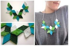 kaleidoscopic felt necklace