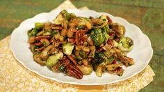 Caramelized Brussels Sprouts with Apples and Pecans Recipe Michael Symon The Chew http://abc.go.com/shows/the-chew/recipes/caramelized-brussels-sprouts-with-apples-and-pecans-michael-symon