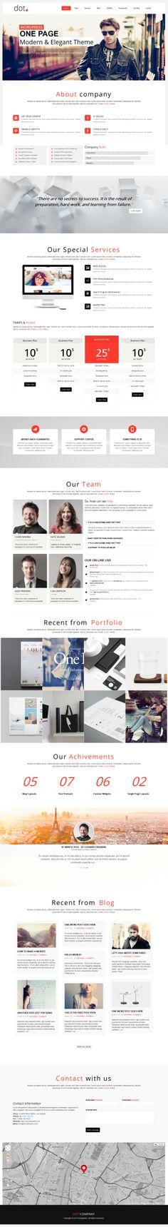 DOT - Creative One Page Multi-Purpose Theme #portfolio #presentation