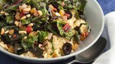 Sicilian Swiss Chard over Quinoa