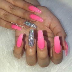 Nail Nail, Manicure And Pedicure, Nail Tech, Nail Polish, Pink Black Nails, Different Types Of Nails, Coffin Nails Long, Nails On Fleek, Swag Nails