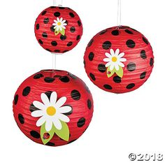 Little Ladybug Hanging Paper Lanterns Little Ladyug Paper Lanterns are adorable party decorations guaranteed to light up birthday parties, tea parties and more! These cheerful party supplies … Ladybug Picnic, Baby Ladybug, Ladybug Decor, Ladybug Centerpieces, Pink Ladybug, Ladybug 1st Birthdays, First Birthdays, Hanging Paper Lanterns, Fun Express