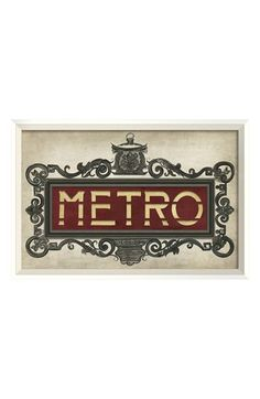 Spicher and Company 'Paris Metro' Vintage Look Street Sign Artwork | Nordstrom