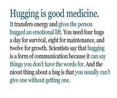 I always feel more peaceful and relaxed when my boyfriend and I hug. This really helped during my chemo when I didn't feel good. Hug Images, Hug Quotes, I Need A Hug, Things To Think About, Good Things, Forms Of Communication, Free Hugs, Word Up