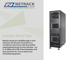 Netrack- Quiet server cabinet Manufacturers, quiet rack server Manufacturers, soundproof server rack Manufacturers, soundproof server cabinet Manufacturers in India. Server Cabinet, Server Rack, Noise Reduction, Sound Proofing, Acoustic, Improve Yourself, Environment