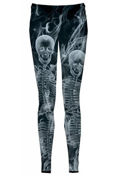 "$38 Do you think that people can X-ray you? See what is inside of you? Discover your deepest thoughts? The ""Black Bone"" leggings are incredibly explicit and have a certain infernal quality to them. If you wear the ""Black Bone"", you will surely make a serious impression."