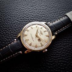 LONGINES-Conquest-Calendar-Automatic-Cal-19ASD-Vintage-Gold-Watch-SERVICED
