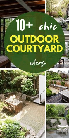 It doesn't matter if you have a small cozy balcony or an expensive garden, we here will show you 10 creative ideas to design your courtyard more spring friendly. These courtyard ideas can be your perfect outdoor lounge spot with a garden landscape. Modern Courtyard, Courtyard Ideas, Patio Ideas, Backyard Ideas, Garden Ideas, Outdoor Landscaping, Backyard Patio, Landscaping Ideas, Bamboo Hedge