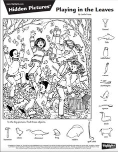 The favorite part of Highlights magazine for many kids—and even parents—is the hidden picture puzzles. With dozens available online for free, . Hidden Picture Games, Hidden Picture Puzzles, Hidden Object Puzzles, Hidden Objects, Puzzles For Kids, Worksheets For Kids, Colouring Pages, Coloring Books, Ivan Cruz
