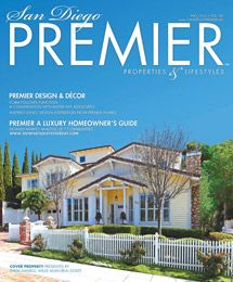 Gorgeous Cape Cod home in La Jolla on the cover of San Diego Premier Magazine.