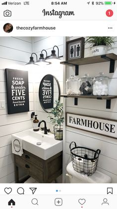 Bathroom Style, Bathroom Decor, Half Bath, Bathroom Ideas, Farmhouse Style,  Bathroom Signs, Wood Sign