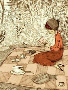 A birdwatching picnic...